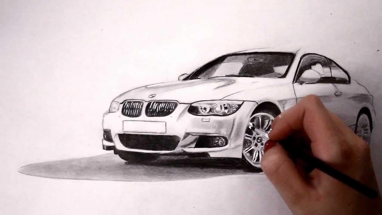 BMW pencil drawing