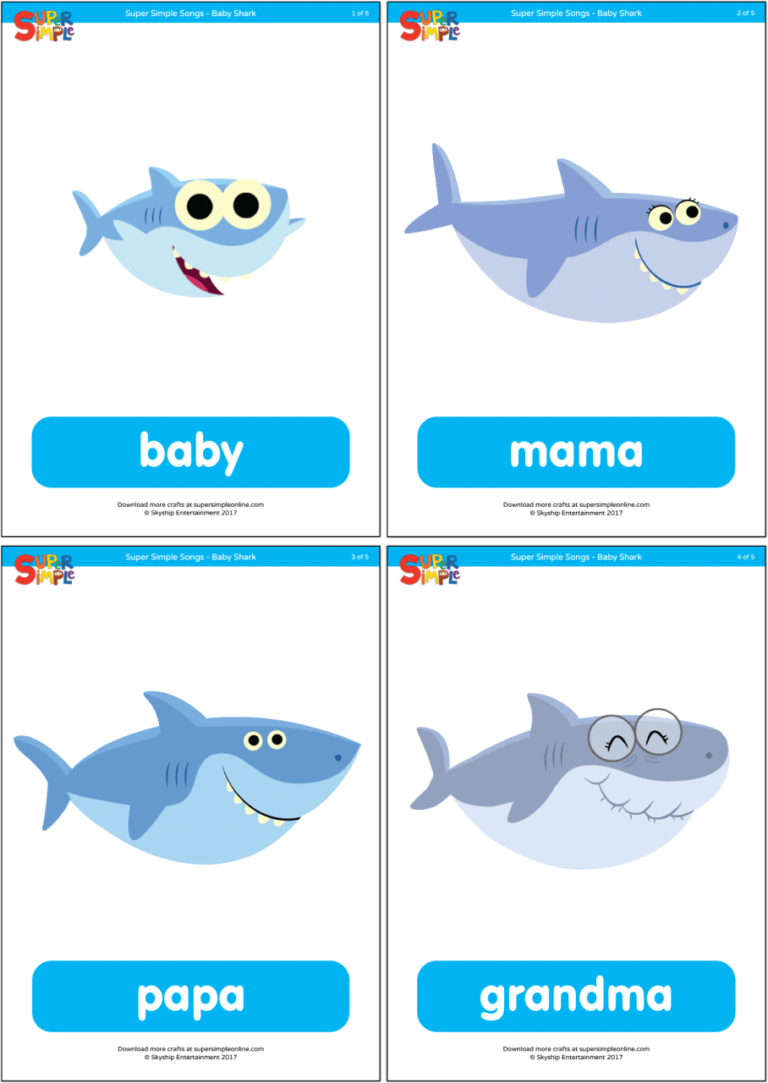Baby Shark - Family Flashcards - Super Simple in 2020 ...
