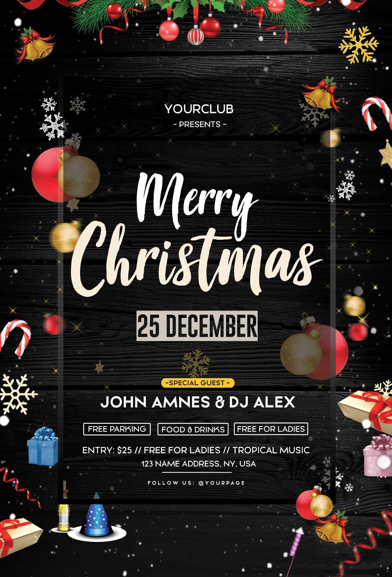 Christmas Event Free Psd Flyer Template Free Psd Flyer Templates