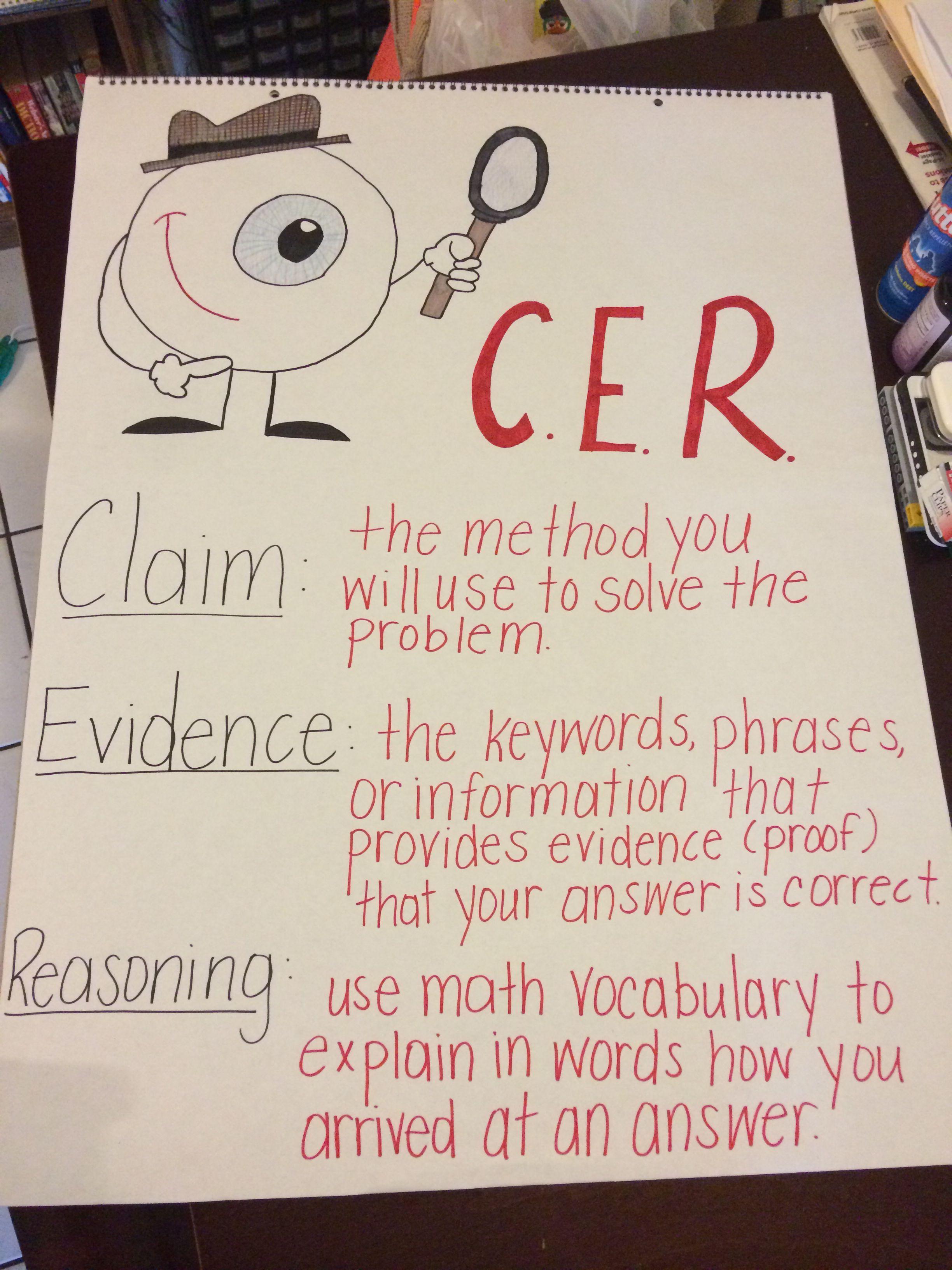 Math Cer Anchor Chart