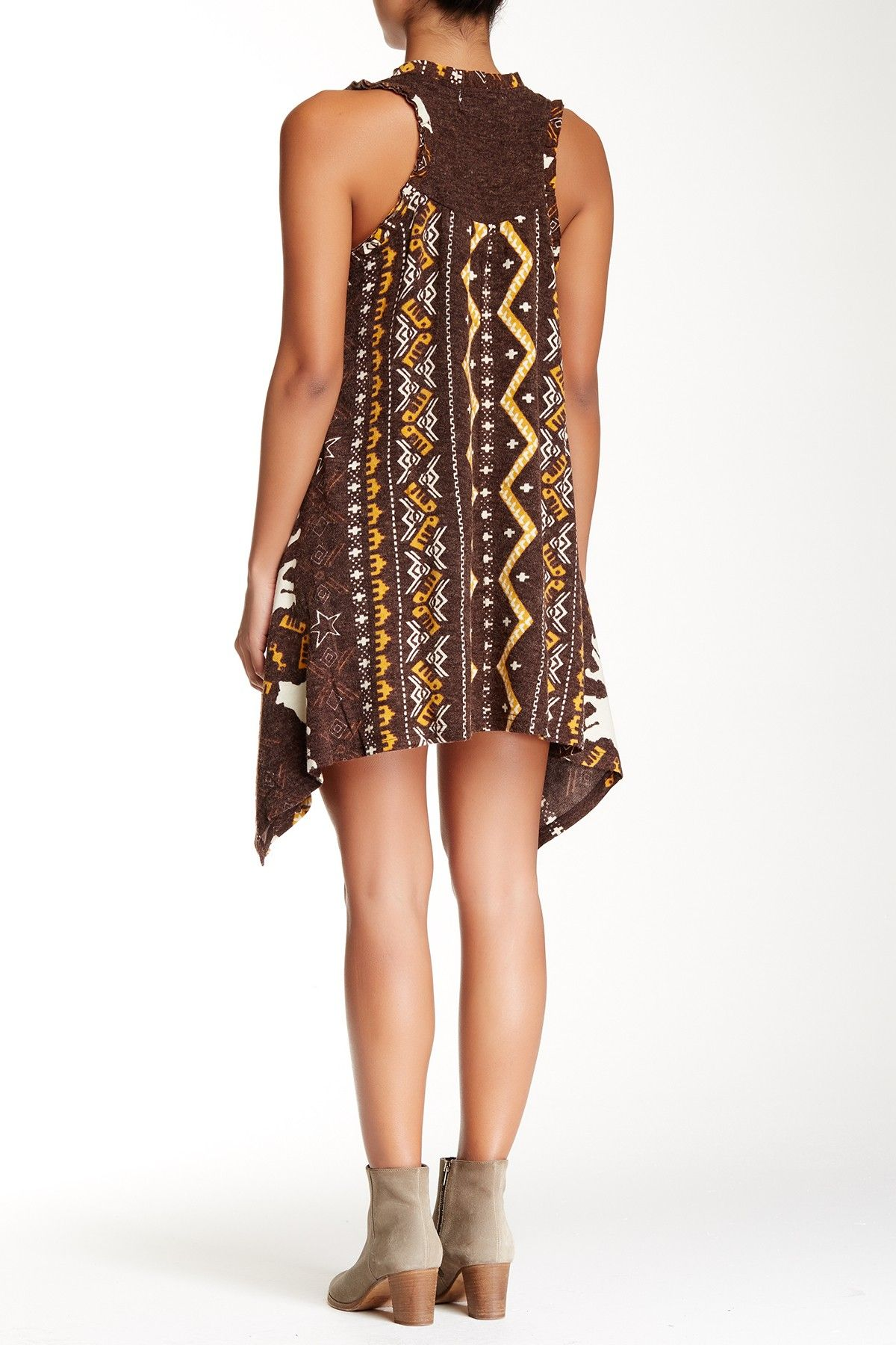Ruffled Scoop Neck Swing Dress by Papillon on @HauteLook