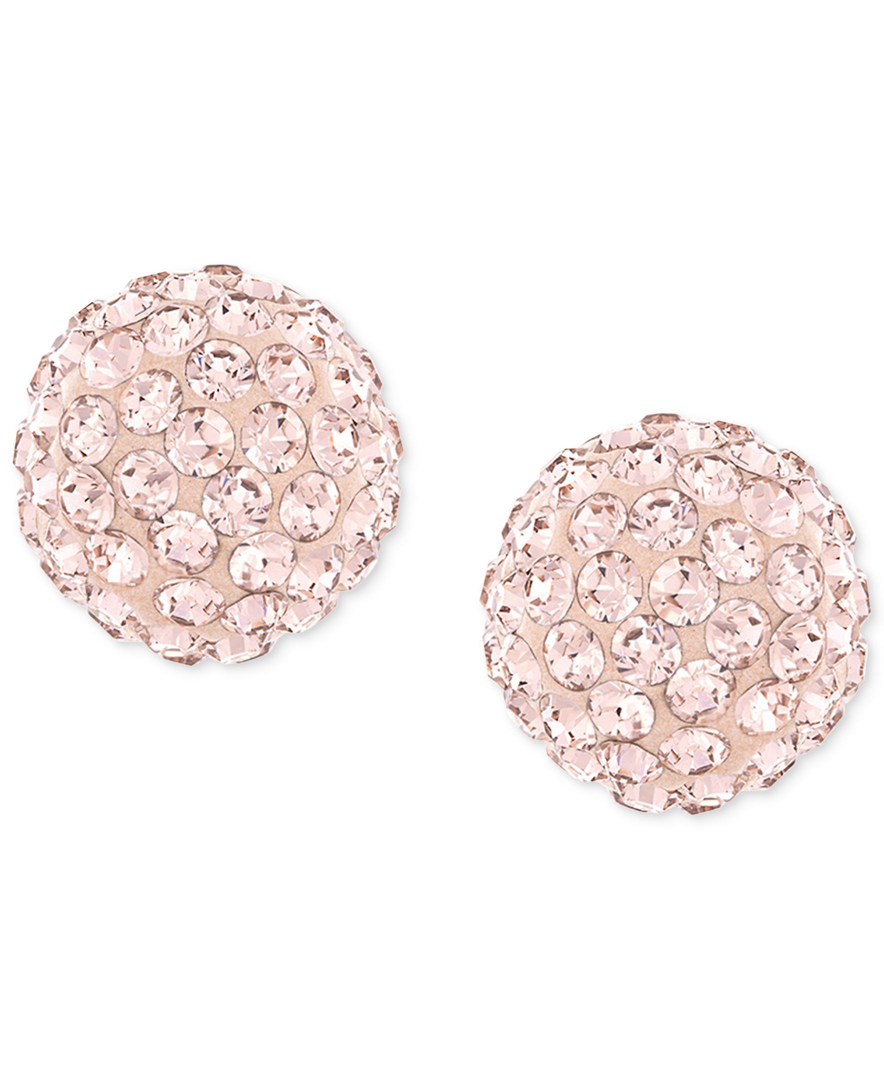 add5e4fc3 Swarovski Rose-Gold-Plated Crystal Stud Earrings | Products | Stud ...