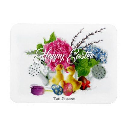 Watercolor easter eggs ducklings spring flowers magnet watercolor easter eggs ducklings spring flowers magnet calligraphy gifts unique style cyo customize negle Choice Image