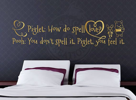 Pooh You donu0027t spell it - Winnie the Pooh Inspired Disney Vinyl Decal & Piglet: how do you spell love? Pooh You donu0027t spell it - Winnie the ...