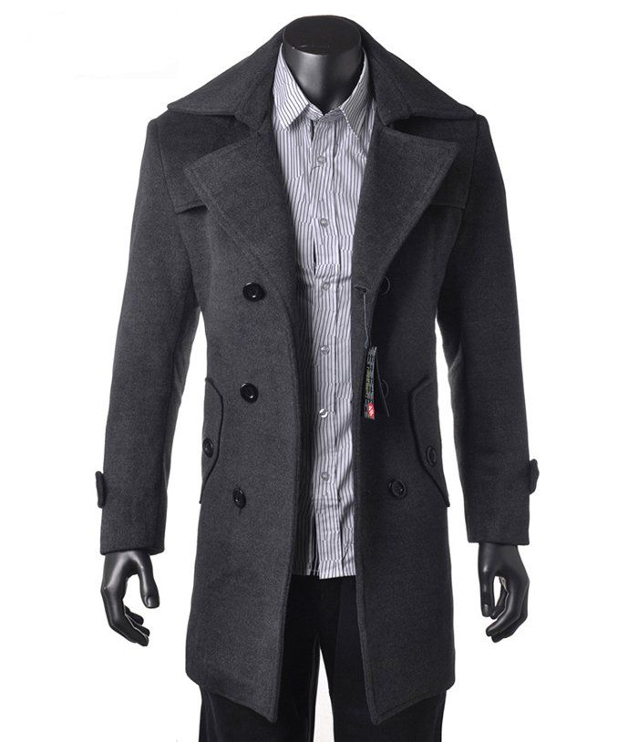 Long Wool Coat Mens GMKLDQ