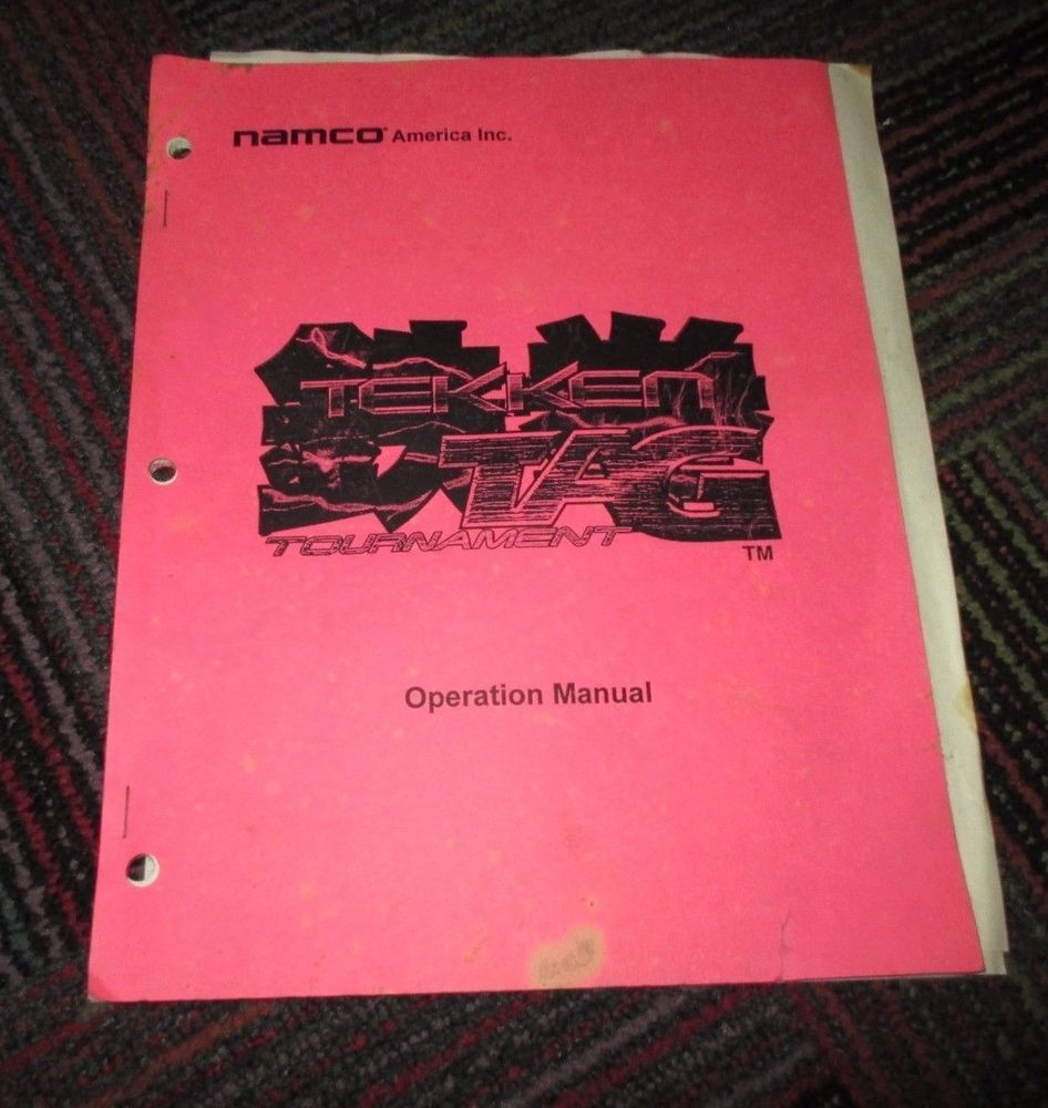 Namco Tekken Tag Tournament Arcade Game Operation Manual Guc