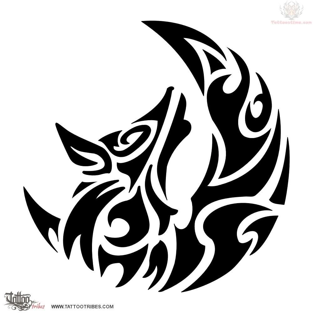 Moon Tattoos Designs And Ideas Page 19 Wolf And Moon Tattoo Wolf Tattoo Design Tribal Wolf Tattoo