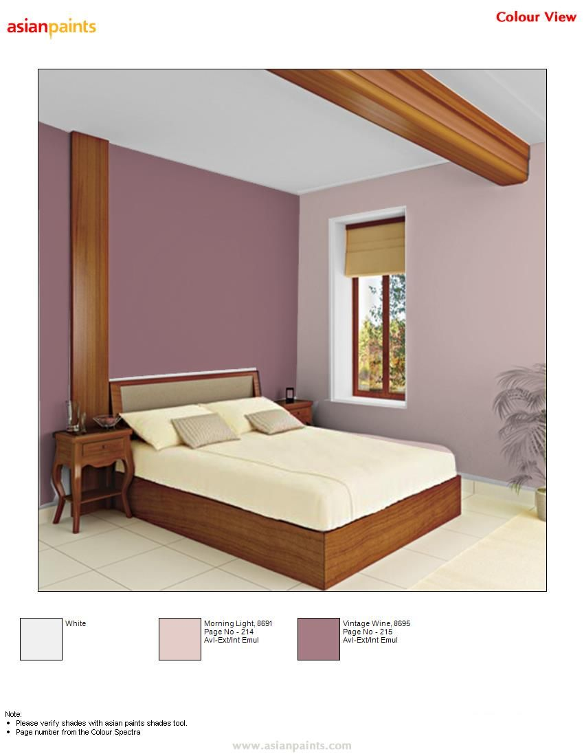 Pin By Barsha Choudhary On Colour Combination For Interior Bedroom Color Combination Wall Color Combination Bedroom Colors
