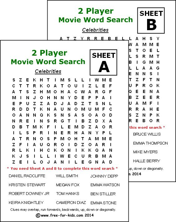 Free Word Search Puzzles You Can Play Online or on Paper