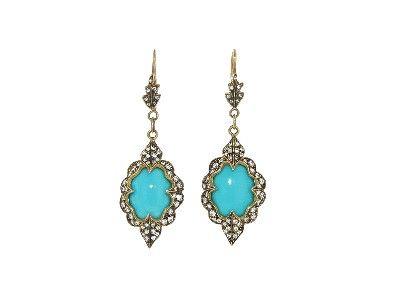 Cathy Waterman - Turquoise Arabesque Earrings
