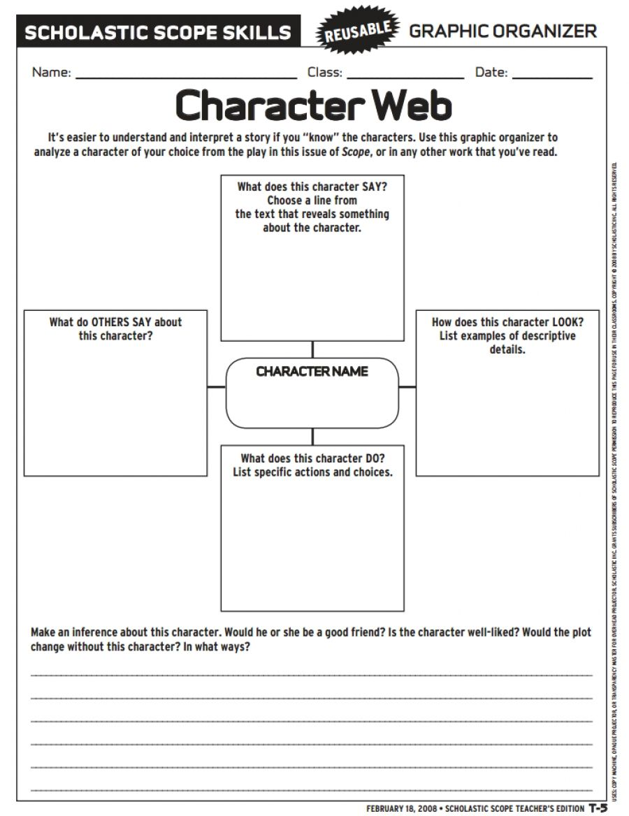 small resolution of Love To Teach   Character Web   Teacher