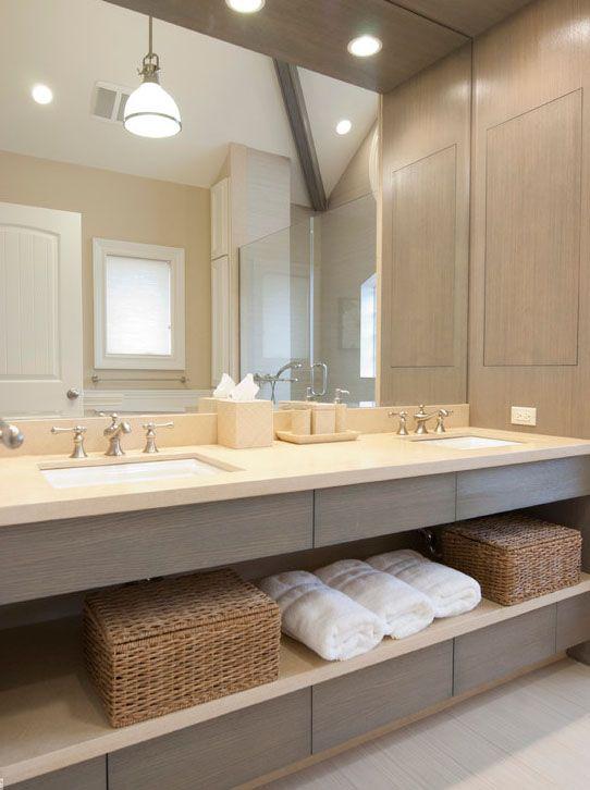 Bathroom Vanity Unit Lights brushed brassware, dual vanity units, this bathrooms mixes a nod