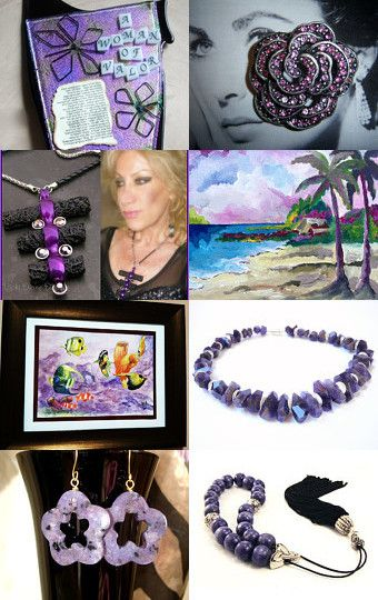 Piling on the Purple! by Dr. Erika Muller on Etsy--Pinned with TreasuryPin.com