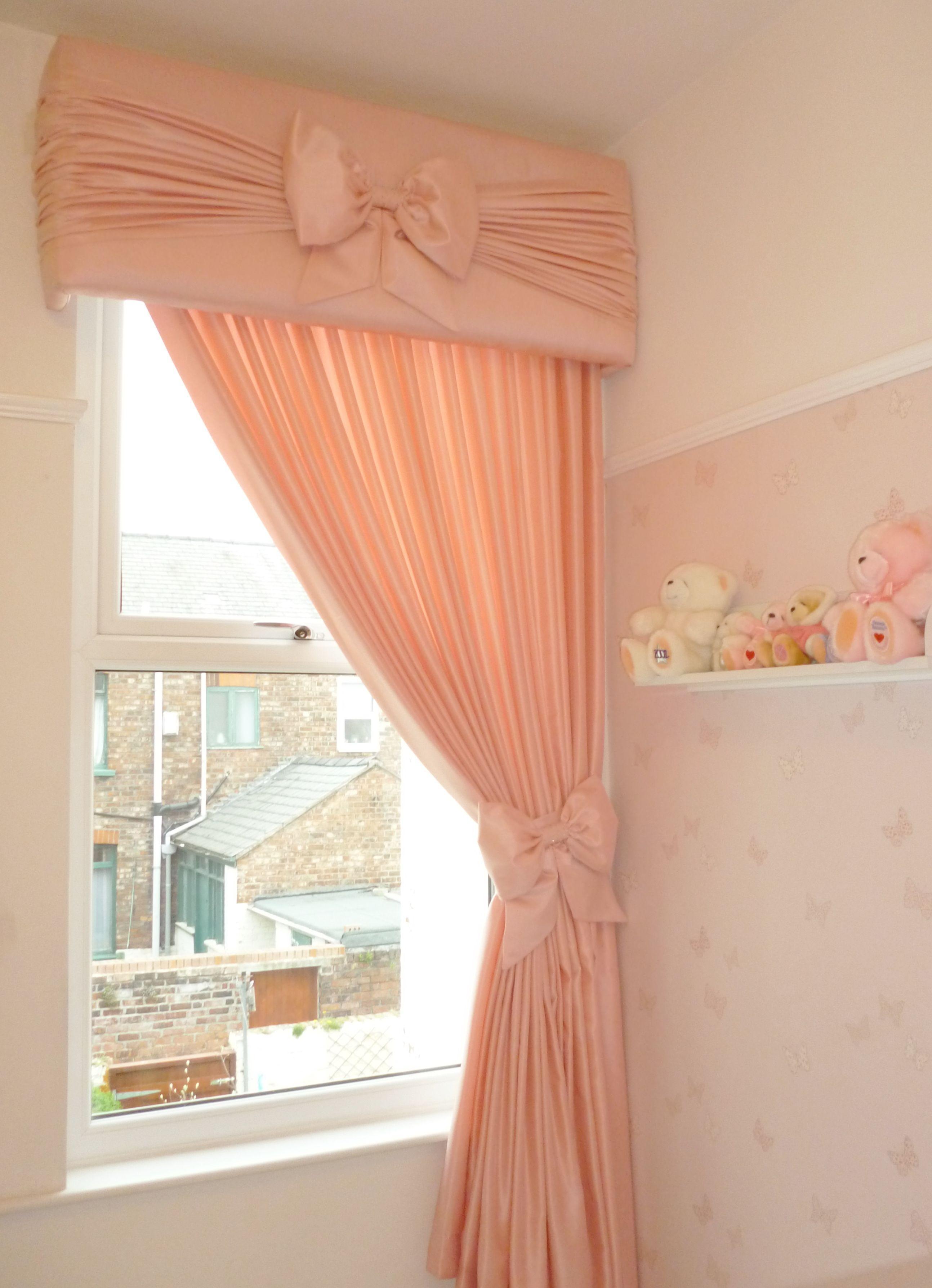 girls nursery pelmet and curtains