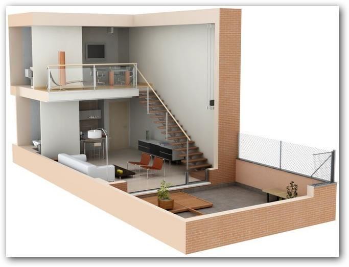 Loft En 3d Casa 53 Pinterest Loft Planos Y Casas