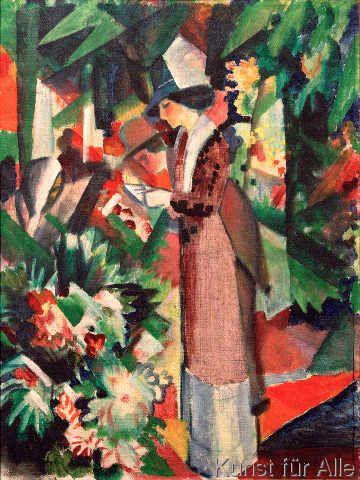August Macke - Spaziergang in Blumen