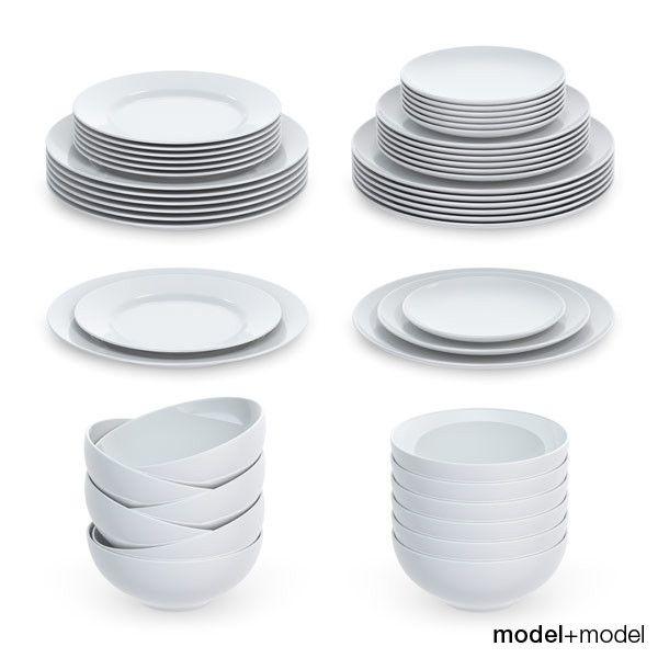 3D Plates Sets Model - 3D Model  sc 1 st  Pinterest & 3D Plates Sets Model - 3D Model   3D-Modeling   Pinterest   3d ...