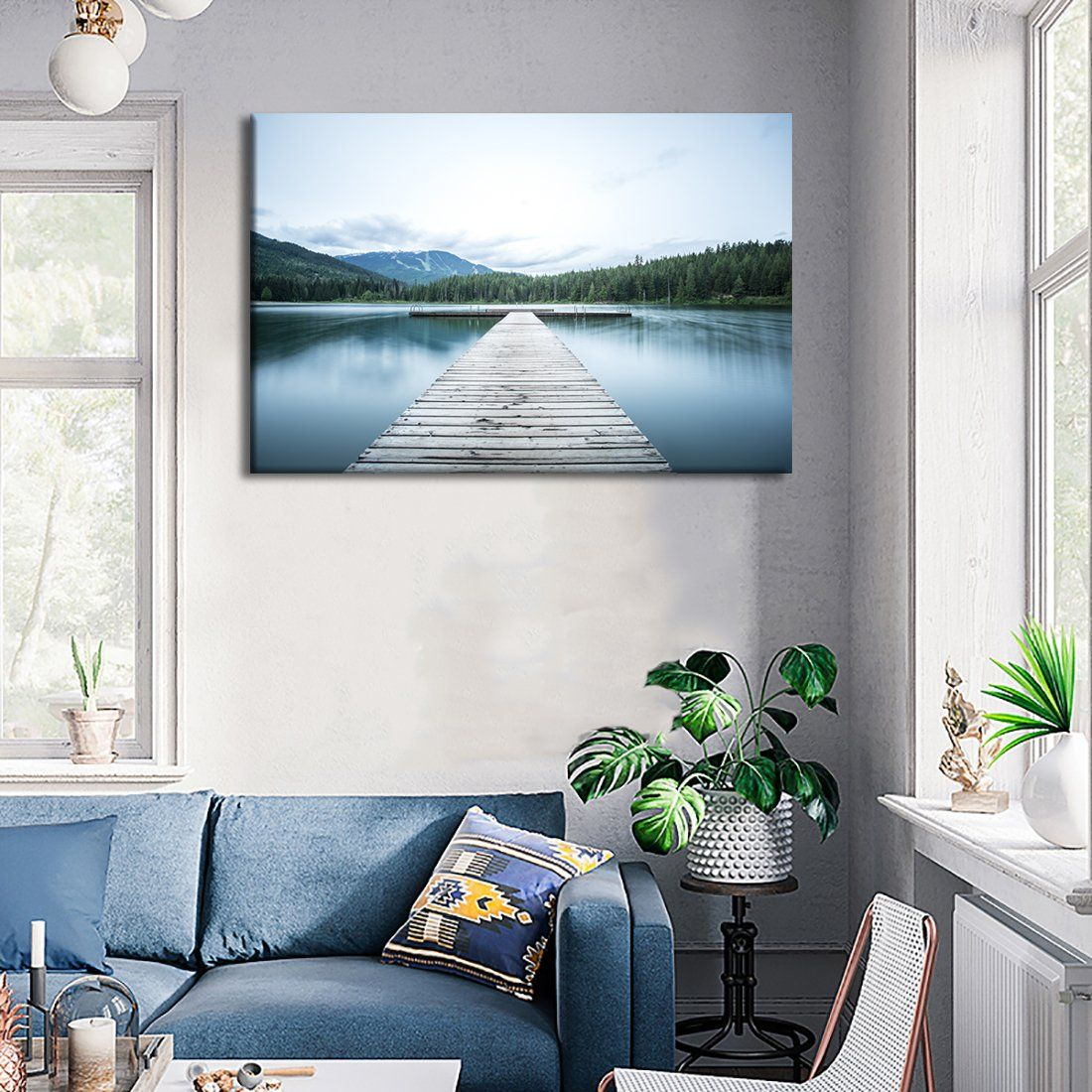 Amazon Com Nature Painting On Canvas Prints And Poster Lake
