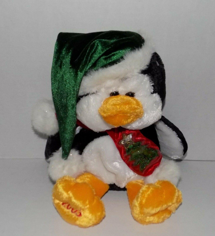 14 Quot Dandee 2003 Plush Christmas Tree Scarf Hat Penguin