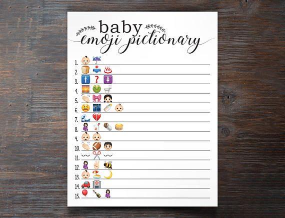 Baby Shower Emoji Pictionary, Baby Emoji Pictionary Baby ...