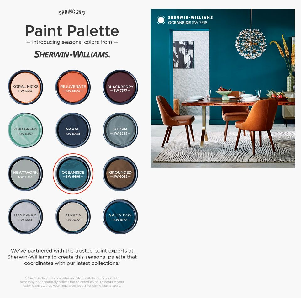 Seasonal Colors From Sherwin Williams West Elm New House Pinterest Basements Exterior
