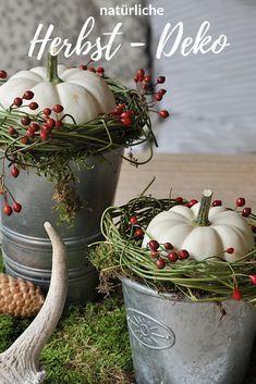 DIY Herbst Deko mit Naturmaterialien 'herbst #deko #kürbis #diy #natur