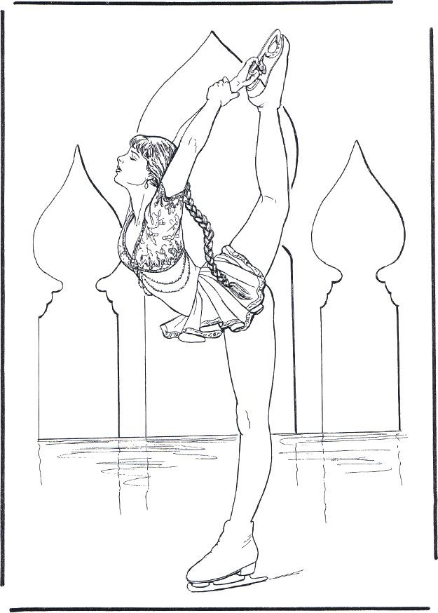 ice skater coloring pages print - photo#22