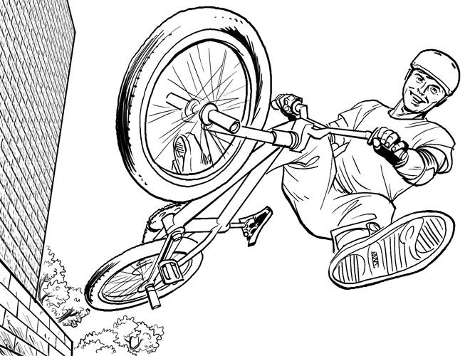 Bmx Racing Coloring Pages | Coloring Pages