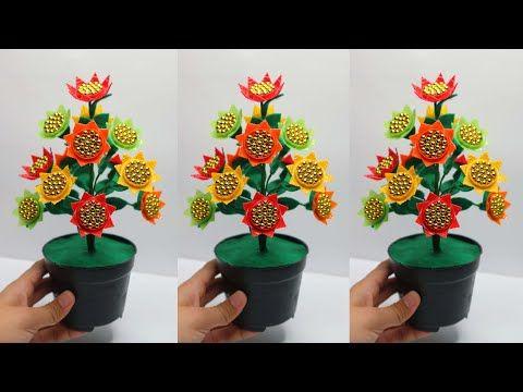 Ide Kreatif Tutup Botol Bekas Menjadi Bunga Hias Yang Sangat