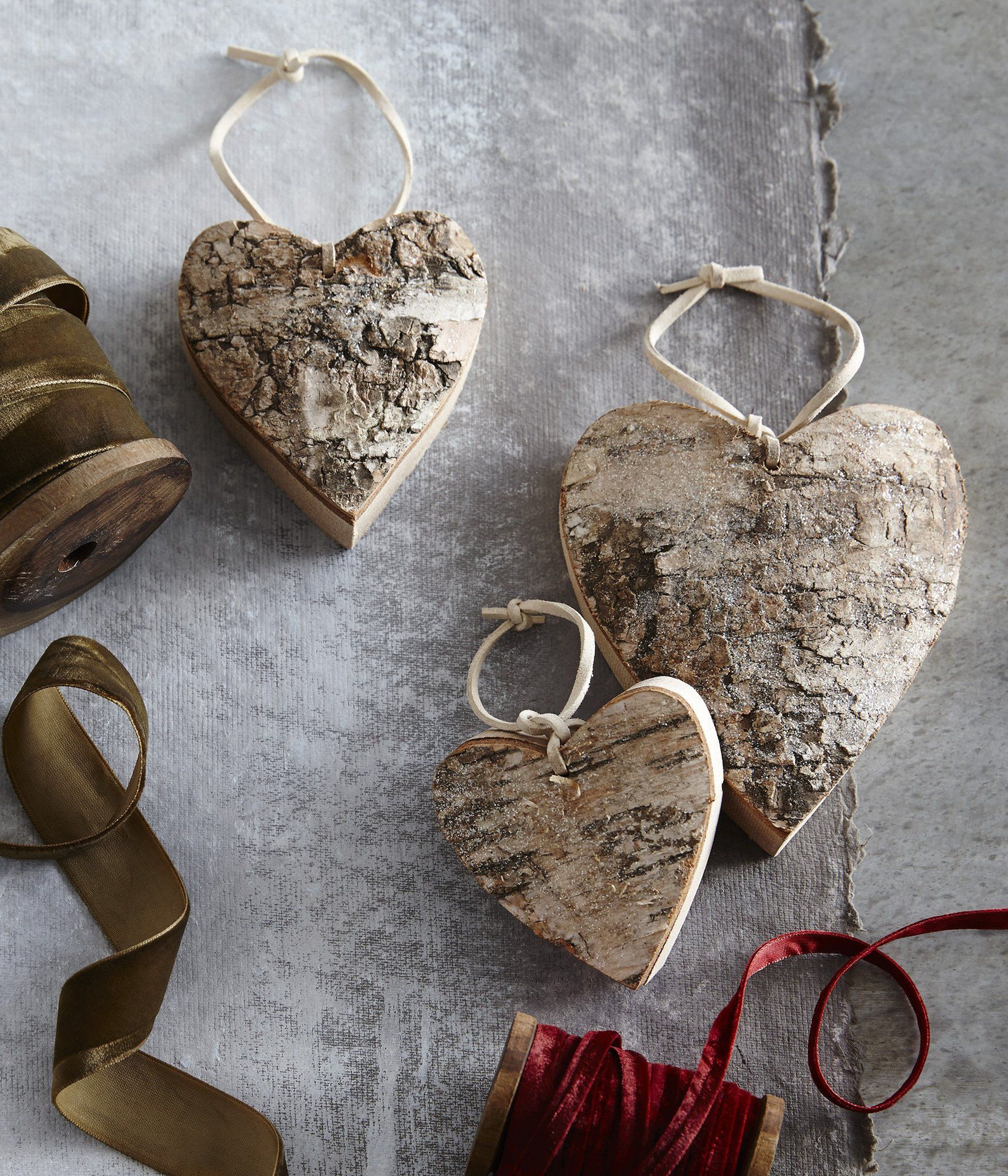 Set of Three Heart Ornaments