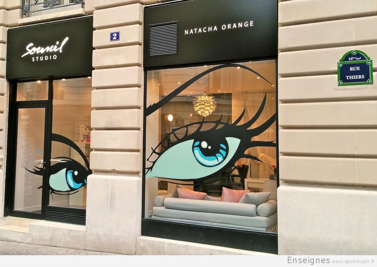 Top Belle enseigne pour institut de beauté à Paris. L'institut Sourcil  GV23