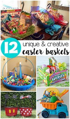Instead of grabbing the same old wicker easter basket from the store creative unique easter basket ideas for kids crafty morning negle Image collections