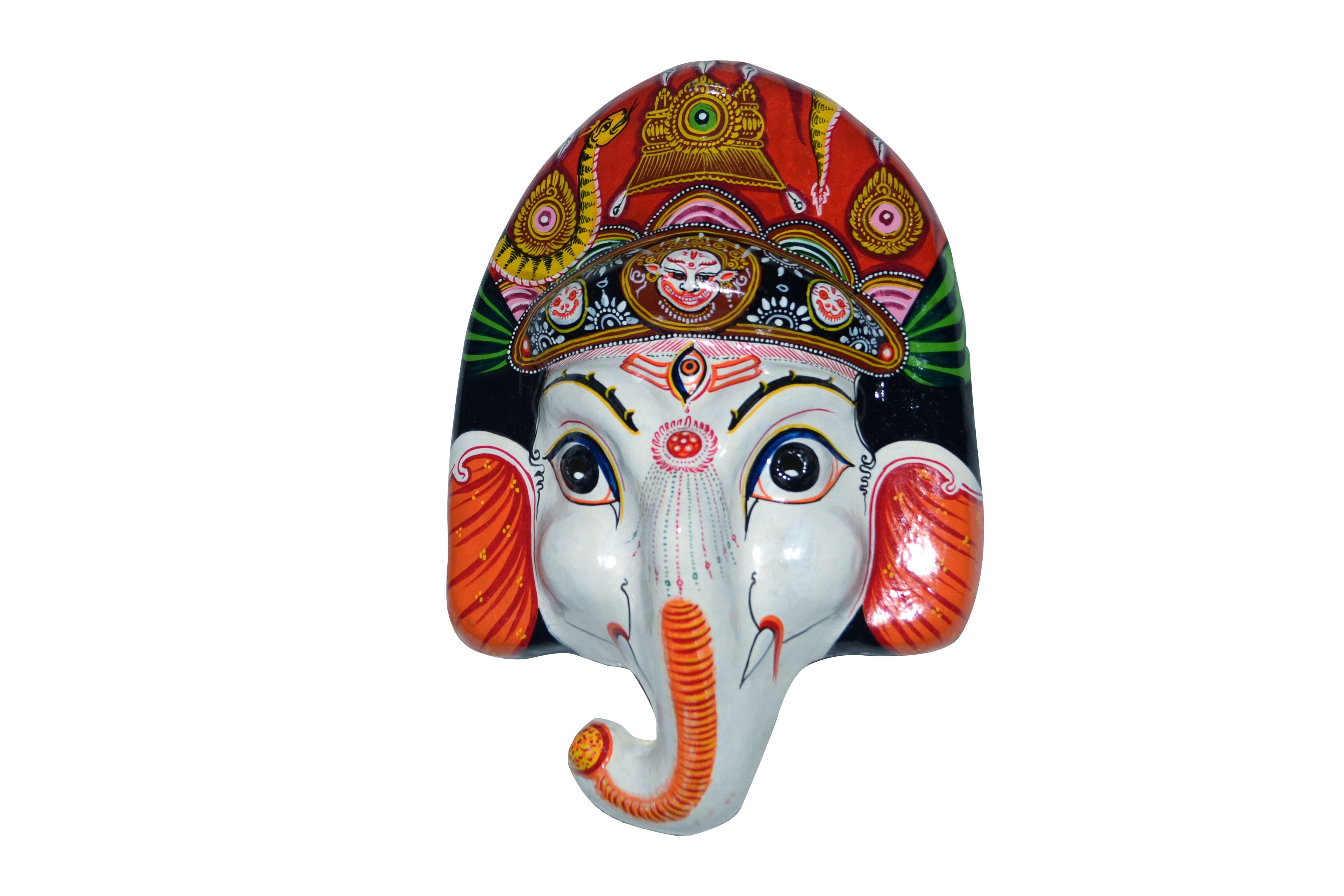 This Is A Brand New Hand Painted Mask Of Lord Ganesh Son Of Shiva