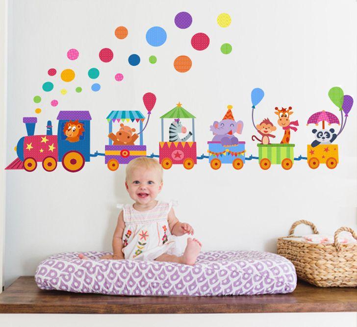 Vinilos infantiles para el cuarto del bebé | Vinilo infantil, Bebé y ...