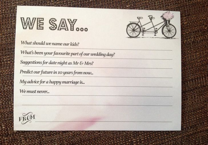 Wedding Guest Suggestion Cards X 60 Book