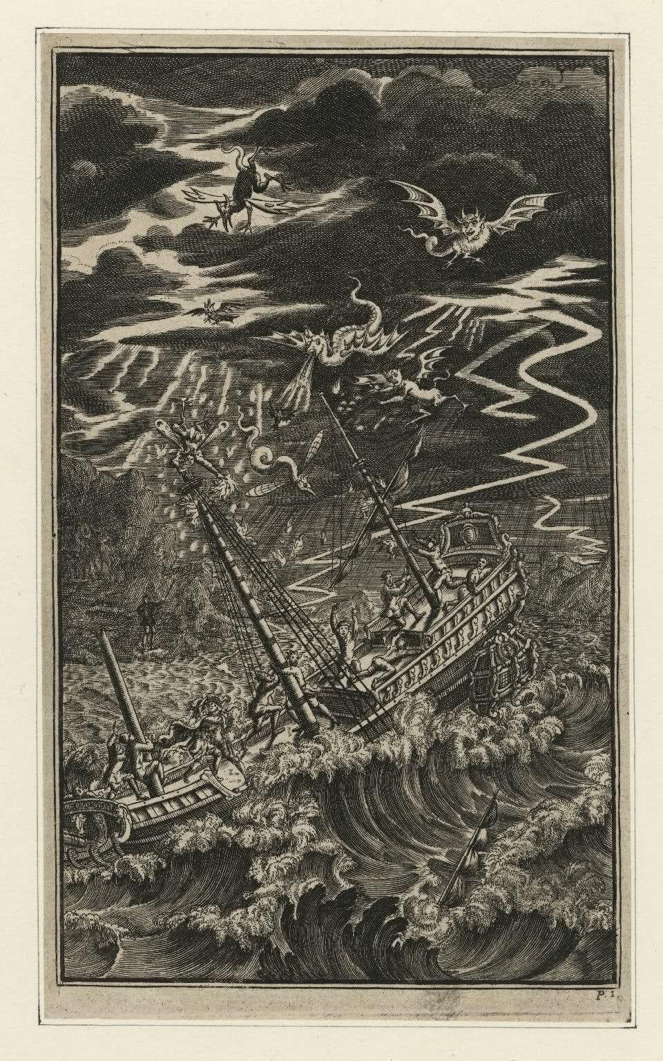 Jacob Tonson - The Tempest, act 1, scene 1, (engraving) 1709.