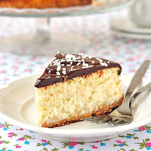 Cremiger Low Carb Kokos-Quarkkuchen - Rezept ohne Zucker #ketodessert