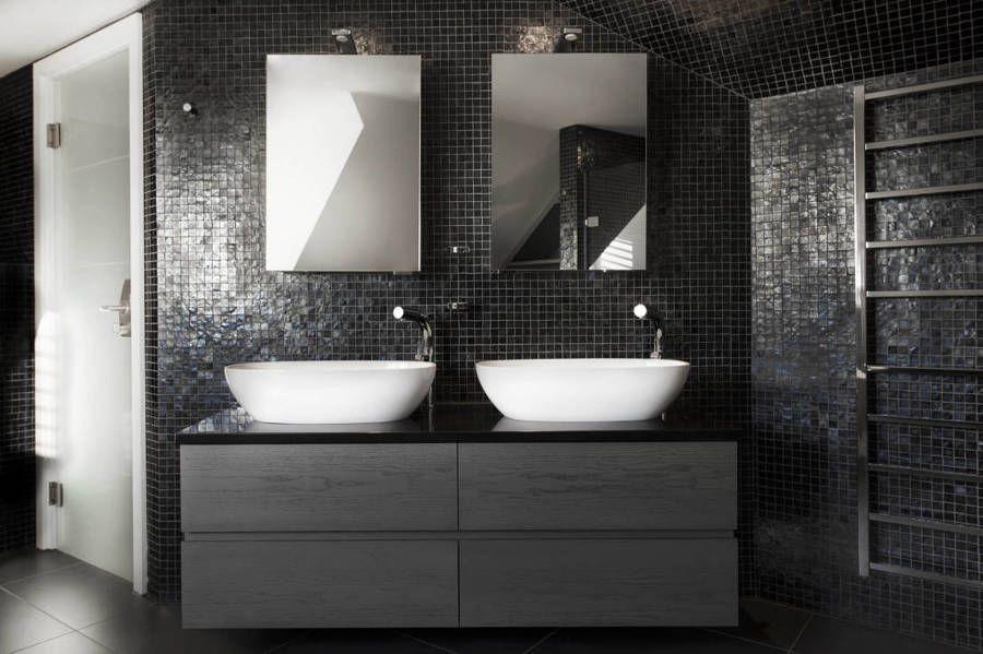 Bagni In Marmo Nero : Bagno in marmo bianco sivec lucido e nero marmo nero marquinia