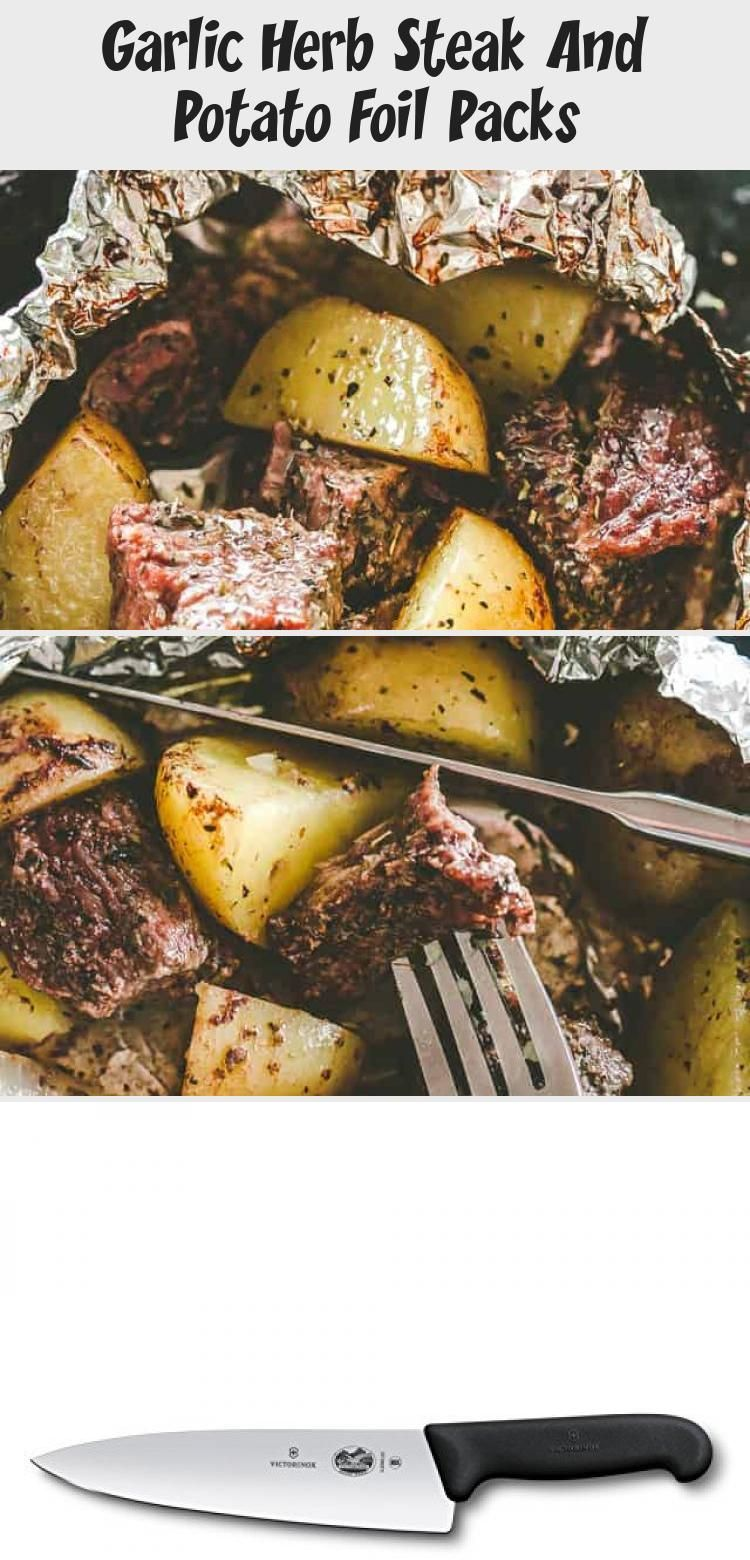 Garlic Herb Steak and Potato Foil Packs – DELICIOUS Steak and potatoes seasoned …