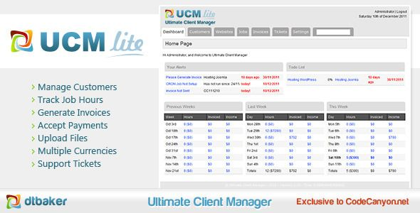 Ultimate Client Manager - Lite Edition  The most complete and - invoice page