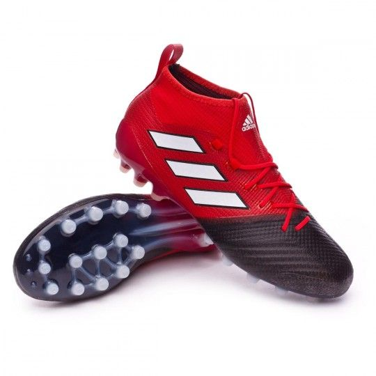 Bota Adidas Ace 17 1 Primeknit Ag Red White Core Black Botas De Futbol Fútbol Adidas