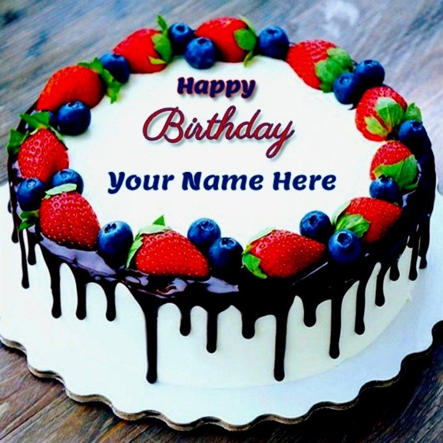 Birthday Cake Images With Name Editor Happy Birthday Cakes With