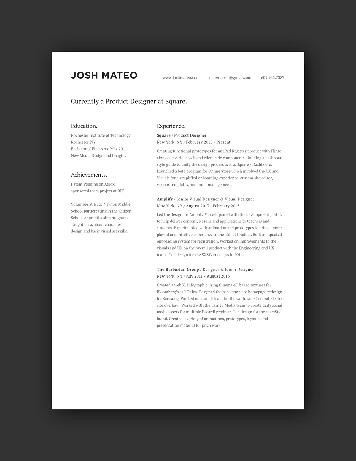 21 Inspiring Ux Designer Resumes And Why They Work Resume Design Graphic Design Resume Ux Design