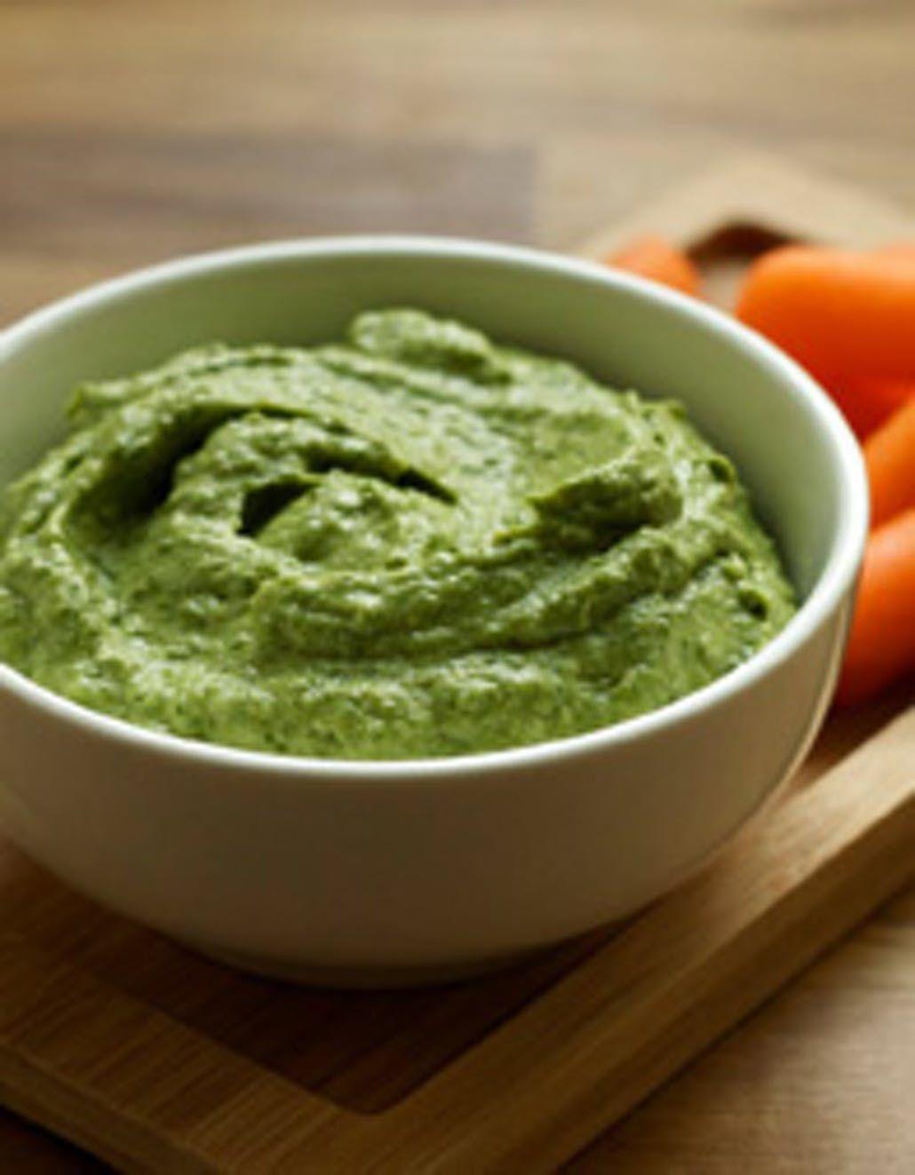 Very Green Avocado Tahini Dip