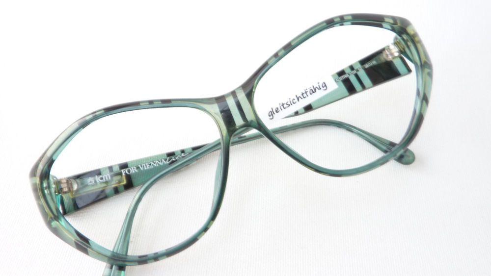Sonnenbrillen & Zubehör Beauty & Gesundheit Brille Fassung Blau Seitlich Randlos Musterbügel Metall Damen Pro Design Size M