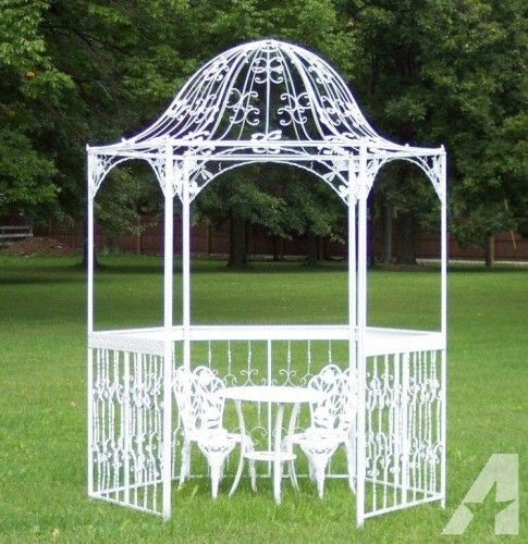Beautiful White Wrought Iron Gazebo Gazebo Garden Gazebo