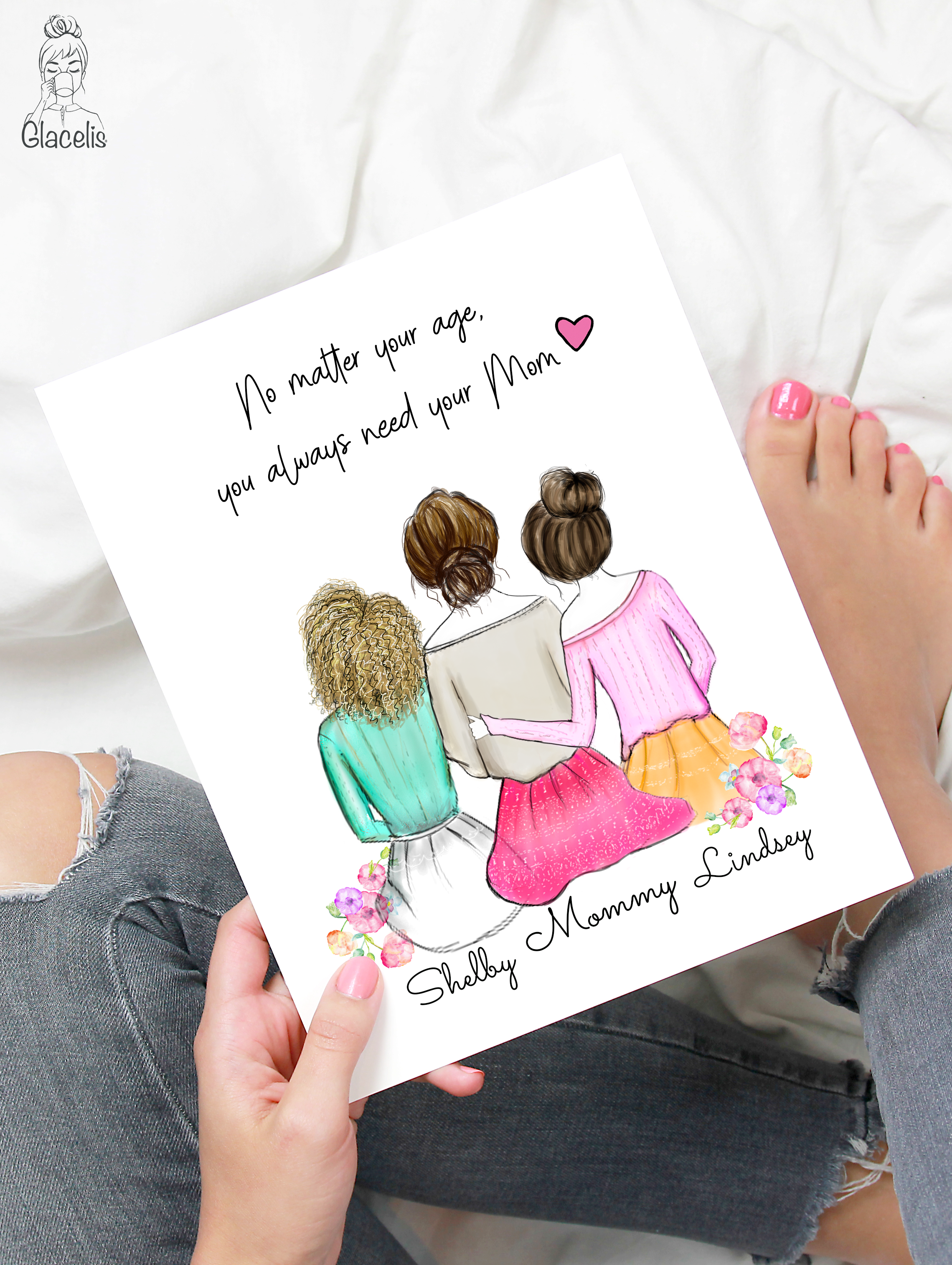 Personalized Mother And Daughter Gifts For Mom Print Art Valentines For Daughter Gifts For Mom 50th Birthday Party Signs
