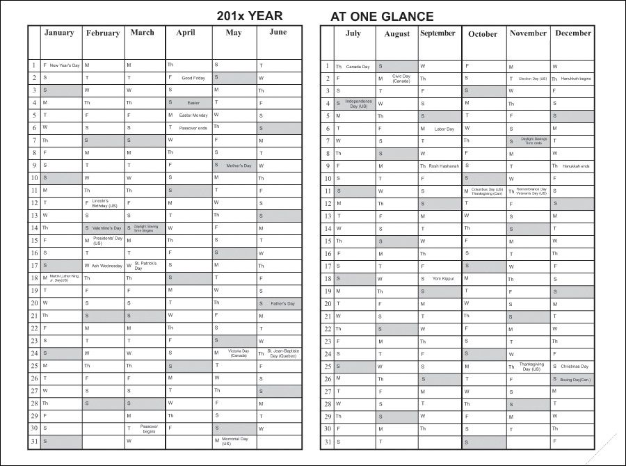 Year At A Glance Calendar Printable Check more at   onlyagame - nist 800 53 controls spreadsheet