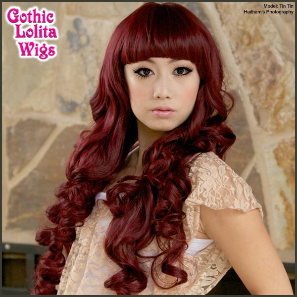 (http://www.gothiclolitawigs.com/long-curly-lolita-burgundy/)  GLW $43.50
