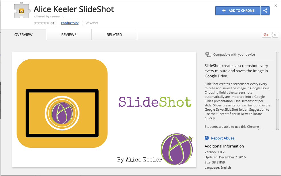 Chrome Extension Slideshot For Google Slides Technology
